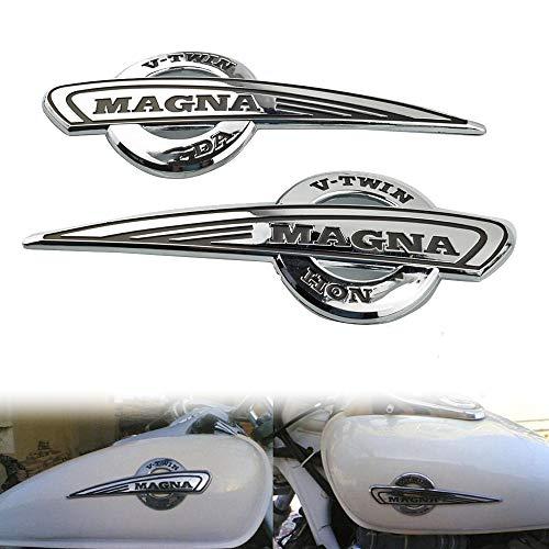 Motocicleta 3D Insignia del Emblema de la Etiqueta engomada del Tanque de Combustible del cojín del Tanque Protector de la Etiqueta de Honda Magna VF500 / 750 VF1100 VT250 Mei Racing