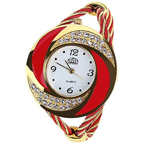 2020 Relojes de Mujer Marca Rhinestone Reloj de Pulsera Grande Mujer Moda Estilo Vintage diseñador Femenino Banda Banda Vestido Tiempo