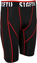 perfk Herren Kompressionsshorts Quick-Dry Base Layer Kurze Hose Funktionswäsche Trainingshose Trainingsshorts für Radsport Fitness Gym Joggen
