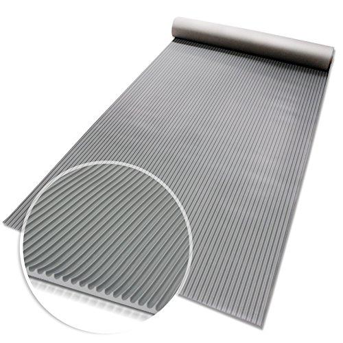 Miniripp Gummiläufer in Grau Gummimatte Schutzmatte Noppenmatte Bodenmatte Noppen Premium gummimatten stall (100 x 500 cm)