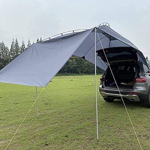 Toldo para Automóvil Impermeable, SUV Toldo Portátil Auto Sun Shelter Carpa Camper Carpa En La Azotea para Playa, Camping, Al Aire Libre