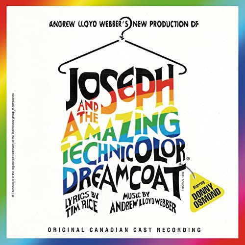 """Andrew Lloyd Webber, Donny Osmond & """"Joseph And The Amazing Technicolor Dreamcoat"""" 1992 Canadian Cast"""