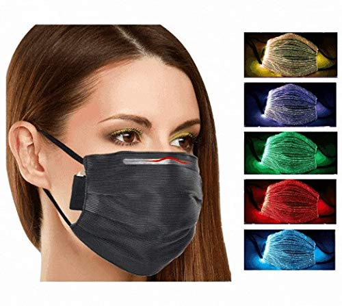ClayTM - Máscara LED para hombre y mujer, 7 colores diferentes - Recarga USB - Mascarilla facial luminosa para fiestas, festivales, Halloween, Costu/Cosplay