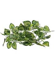 BLENGA 2 m sztuczny arbuz winorośl plastikowe wiszące rośliny winorośli gad jaszczurki terrarium wspinaczka dekoracja sztuczne rośliny liście do wewnątrz na zewnątrz