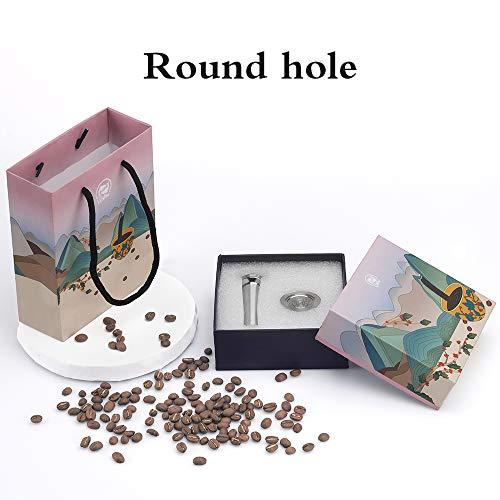 Sunasq Kaffeekapselfilter, Kaffeekapsel-Set, Edelstahl, mit Druckhammer, 8 Wassereinlässe, wiederverwendbar, kein Abfall, feine Verpackung, ideal als Geschenk