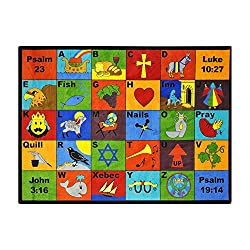 "Bible Phonics Area Rug - 7'8"" x 10'9"""