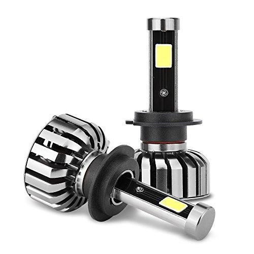 LWD H7 80W LED Ampoules multifonctions Kit de conversion tout-en-un, 8000 Lumens 6000K Cool White Bulbs gamme de lumière 200m, 2 ans de garantie (H7)
