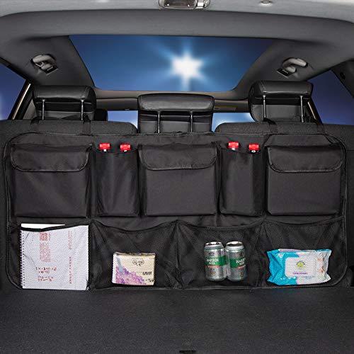 Car Trunk Organizer, Large SUV Backseat Hanging Storage Bag for Car,Truck, SUV, Space Saving Car Organizer
