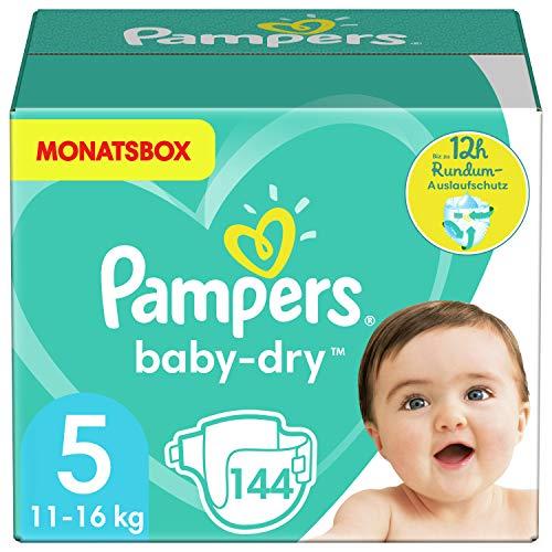 Pampers Baby Dry Windeln, 5 (11-24 kg), 144 Stück