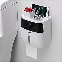 Waterdichte toiletrolhouder voor toiletpapier handdoekhouder badkamer dispenser opbergdoos toiletrolhouder wandmontage (kl...