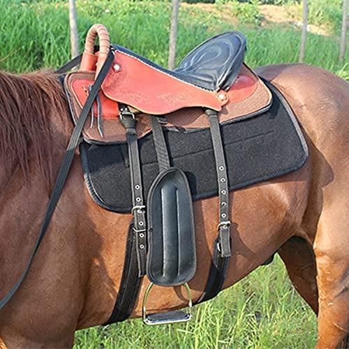 HTDHS Sillín de caballo ecuestre de cuero de cuero premium, sillín de carreras de barril occidental Conjunto de rayas de estribo Raíz y almohadilla para suministros ecuestres, montar a caballo al aire