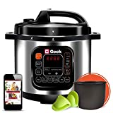 Geek Robocook Zeta5 5L Electric Pressure Cooker with Non Stick Pot, Black