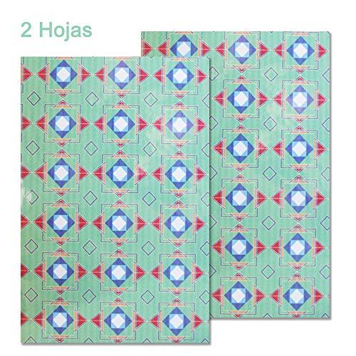 Starplast, Papel Goma Eva Decorado y Adhesivo, de Flores, 20 cm x 30 cm, A4, 2 Hojas, para Decorar, Diseñar y Manualidades, Estampado Cuadrados Violetas