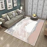 Tapis Bureau Rose Salon Tapis Poudre Rouge Abstrait Art Motif de Salon Durable Tapis antidérapant Tapis Pastel 50x80cm Tapis d'entr¨¦e 1ft 7.7''X2ft 7.5''