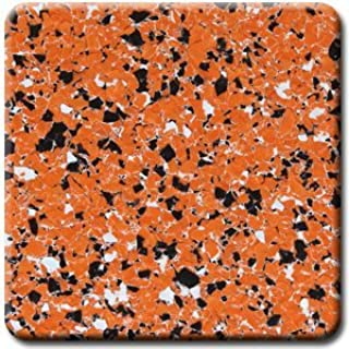 Sports Team Colors!!! Professional grade PVA decorative color chip flakes for epoxy garage floor coatings, 20 lbs (Orange, Black and White TEAM-10-1017)