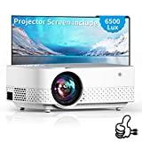 Flowidea Q5 Video Projector for Home Theater Full HD 1280x720P 1080P Supported Projector Screen Included HiFi Speaker Outdoor Movie Compatible with TV Stick/Phone/Laptop/PS4/SD/USB/VGA/HDMI