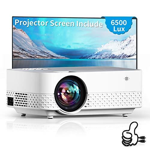 Proiettore Q5 Videoproiettire 6000 Lumens Mini Videoproiettore Portatile Proiettore Supporta 1080P Full HD Home Cinema Compatibile AV/USB/SD/VGA/Switch/PS5
