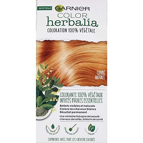 Garnier – Haarfarbe 100% pflanzlich kupferfarben – Color Herbalia – Set von 80 g und 40 ml – Preis pro Stück – Lieferung in Frankreich Metropolitan in 3 Tagen offen