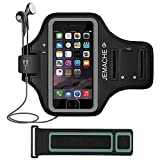 iPhone 6/6S/7/8 Armband, JEMACHE Fingerprint Touch Supported Gym Running Workout/Exercise Arm Band Case