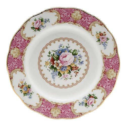 Royal Albert Lady Carlyle Salatteller, 20,3 cm, Weiß mit buntem Blumendruck