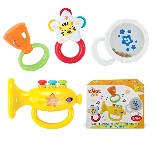 KiddoLab Musical Instruments Set with an Electronic Trumpet...