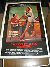 THEY'RE PLAYING WITH FIRE /ORIG..U.S. ONE SHEET MOVIE POSTER(SYBIL DANNING)