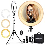 Ring Light 18 Inch 65W LED Ringlight Kit with Tripod Stand with Phone