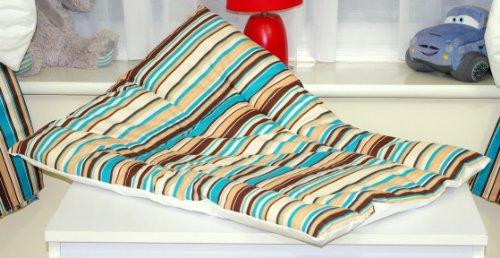 Baby 's Comfort weich gepolstert Kinderzimmer Wickelunterlage (Schokolade Streifen)