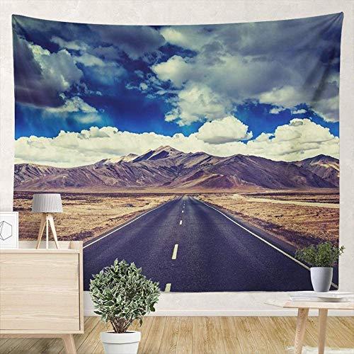 Yhjdcc Tapices de viaje hacia adelante en llanuras del Himalaya con montañas, dormitorio, sala de estar, aula, hogar, tapiz, decoración para colgar en la pared, 150 cm x 200 cm