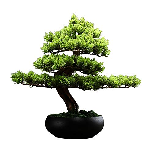 "Bonsáis Planta Artificial en 6.7""Black Ceramics Pot Artificial Bonsai Tree Faux Potted Plant For Home Garden Office Wedding Decorations, 15"" de Altura Árbol Bonsai"