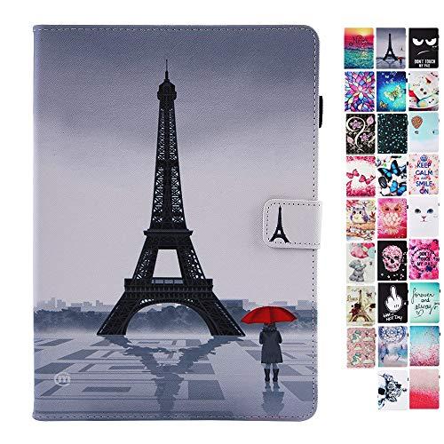 Coeyes Tablet-PC Hülle kompatibel für Samsung Galaxy Tab A 9.7 Zoll T550N / T555N Tasche Leder Flip Case Etui Schutzhülle Cover mit Kartenfach - Turm Mädchen