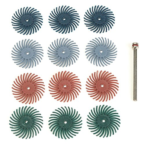 Kamas 12pcs Free Shipping New 1 8 Inch Shank Don't miss the campaign Bristle 220 400 Grit Brushes D 80 120