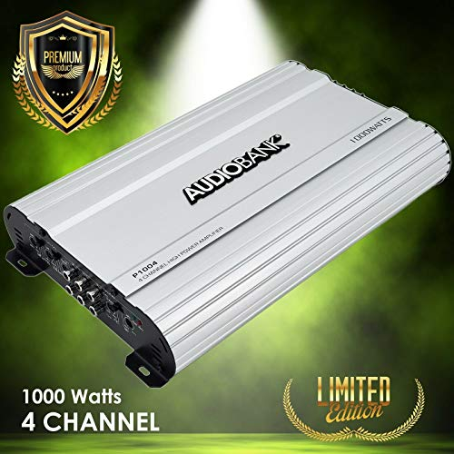 Best Buy! Audiobank 4 Channels 1000 WATTS Bridgedable Car Audio Stereo Amplifier P1004