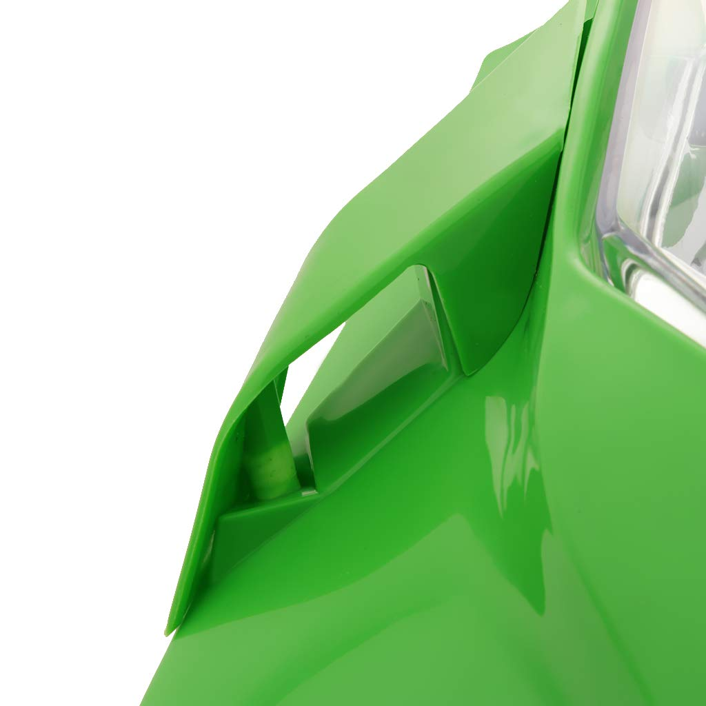 perfk Carenado Moto + Piloto LED de Luz Trasera Compatible para Motocross, Color Verde Transparente: Amazon.es: Coche y moto
