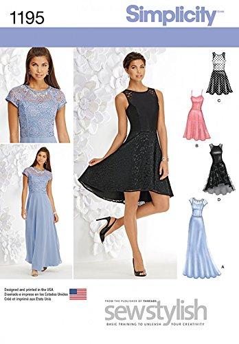 Simplicity Damen-Schnittmuster 1195 schlichte Abendkleider