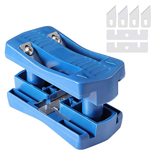 Edge Banding Trimmer, Edgeband Cutter Tools Trimmer for PVC Plywood Melamine Wood Double Veneer Edge Trimmer Cabinet Wood Trimming Woodworking Tool Fit Width Range 15-40mm Thickness below 0.5mm