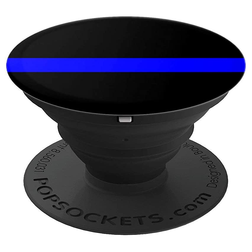Law Enforcements Thin Line Blue Police Forces Accessories - PopSockets Grip and Stand for Phones and Tablets