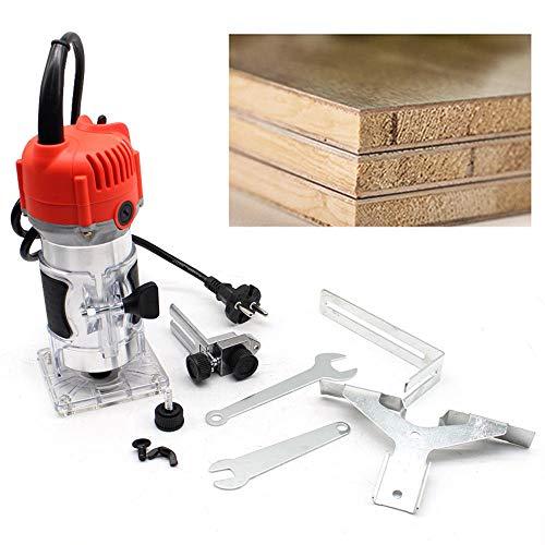 580W Oberfräse Holz Wood Kantenfräse Fräse Holzfräse Elektrischer Handschneider 30000 r/min Electric Hand Trimmer Holz