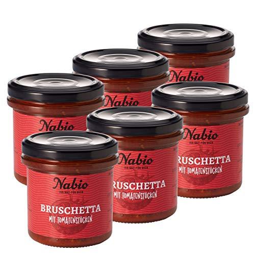 Nabio Aufstrich Bruschetta Tomate, vegan, Bio-Brotaufstrich, 6er Pack (6 x 140 g)