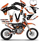 Team Racing Graphics kit Compatible with KTM 2002-2008 SX 65, Scatter