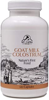 Mt. Capra Goat Milk Colostrum for Healthy Immune System, Gut, and Athletic Performance, Grass-Fed, High in Immunoglobulins...