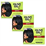 Relajante para cabellos Organic Root Stimulator, crema de alisado, con aceite de oliva, protección integrada, sin lejía, extrafuerte