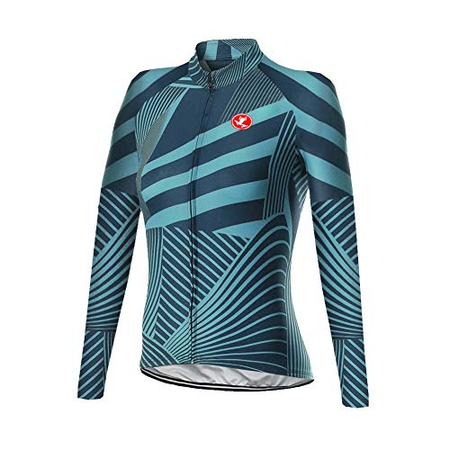 Uglyfrog Damen Fahrradtrikot Langarm Thermo Radtrikot Pro/Windstopper/Atmungsaktiv/Reflektoren/Full Zip/Anti-Rutsch-Streifen for Winter