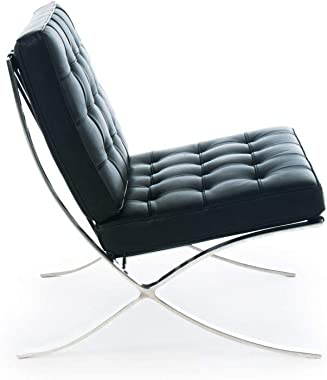 Premium Lounge Chair - Imported Top Grain Italian Leather (Chair Black)