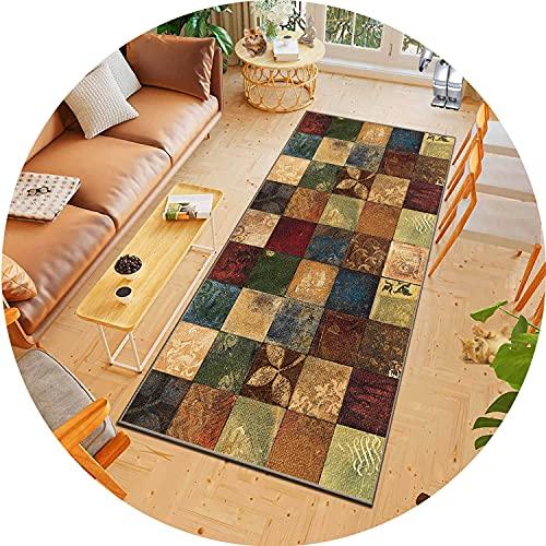 ACUY Teppich küche 100x450cm, Teppich Flur LäUfer, rutschfest Waschbar, für Wohnzimmer Flur Büro Schlafzimmer Küche