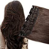Akashkrishna™ 3/4 Full Head Clip in Human Hair Extension Real Remy Hair Natural