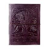 Album portafoto extra grande con design albero della vita, in pelle goffrata, 260x 340mm