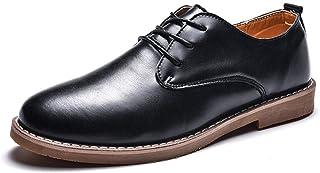 DINGGUANGHE-zapatos Charol Zapatos Formales con Punta rojoonda, cómodos, de Moda, con Estilo clásico, Oxford Casual, para Hombres. Ropa Formal Zapatos de Vestir (Color   Negro, tamao   44 EU)