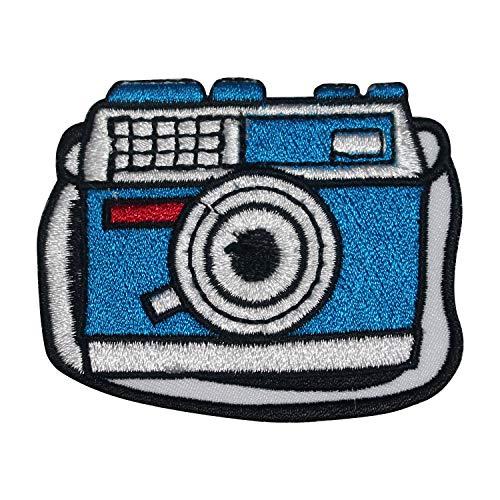 Parche bordado con logotipo colorido de la cámara para coser en la insignia para la ropa, etc