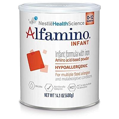 Alfamino Infant Amino Acid Based Infant Formula with Iron, Unflavored, 14.1 Ounces